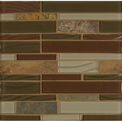 Elume Random Sized Glass Mosaic Tile in Ruby Silk