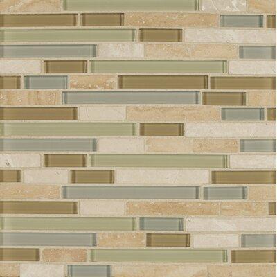 Carlisle 12 x 12 Stone Mosaic Linear Blend Tile in Isle