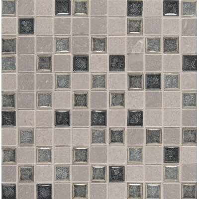 Kisment 1 x 1 Glass Mosaic Tile in Fate
