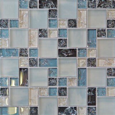 Staccato 12.63 x 12.63 Mosaic Gloss Matte Tile in Grey