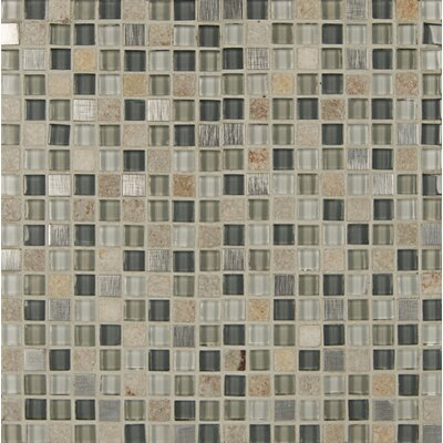Elume 0.63 x 0.63 Glass and Natural Stone Mosaic Tile in Yellow/Green