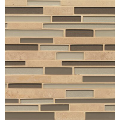 Remy Glass 12 x 13 Stone/Glass Mosaic Random Interlocking Blends in Mercer
