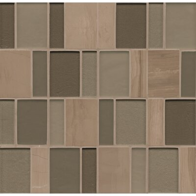 Remy Glass 12 x 12 Stone/Glass Mosaic Brick Blends in Bellingham