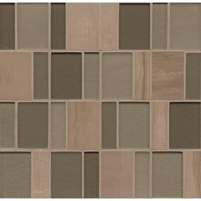 Manhattan Random Sized Glass Mosaic Tile in Brown