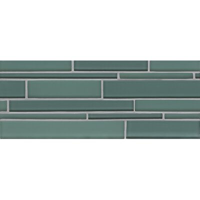 Hamptons Random Sized Glass Mosaic Tile in Cushing Green