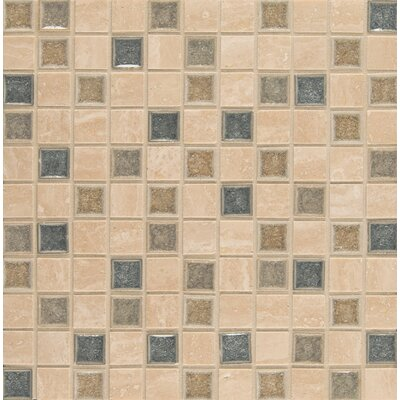 Kisment 1 x 1 Glass Mosaic Tile in Felicity