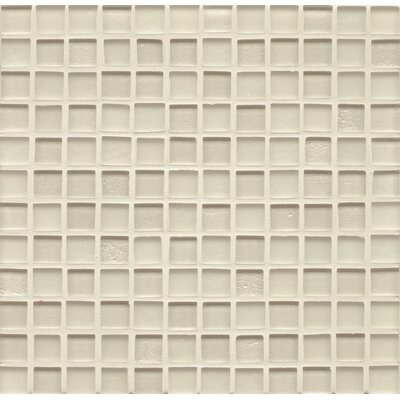 Manhattan 0.94 x 0.94 Glass Mosaic Tile in Pearl
