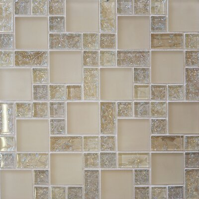 Staccato 12.63 x 12.63 Mosaic Gloss Matte Tile in Tawny