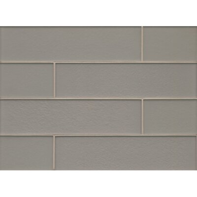 Remy Glass 4 x 16 Glass Field Tile Matte in Silver