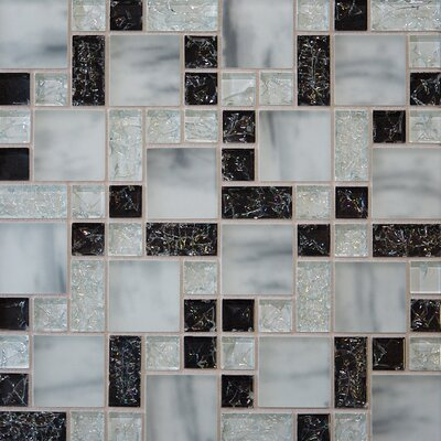 Staccato 12.63 x 12.63 Mosaic Gloss Matte Tile in Black