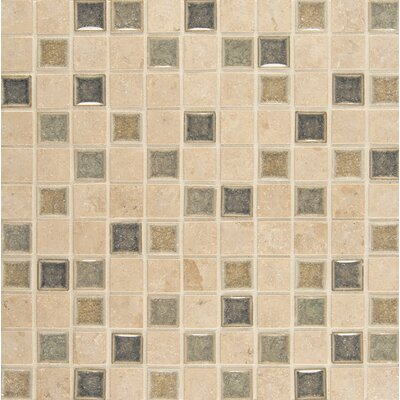 Kismet 1 x 1 Glass Mosaic Tile in Glee