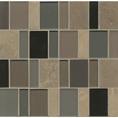 Remy Glass 12 x 12 Stone Mosaic Brick Blends Tile in Ellensburg