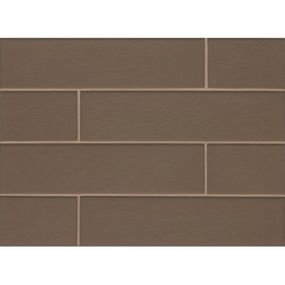 Remy Glass Matte Field Tile in Brown