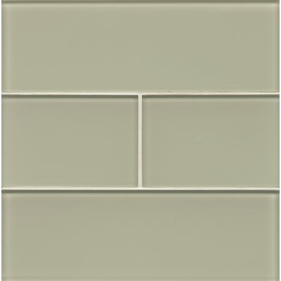 Hamptons 4 x 12 Glass Field Tile in Taupe