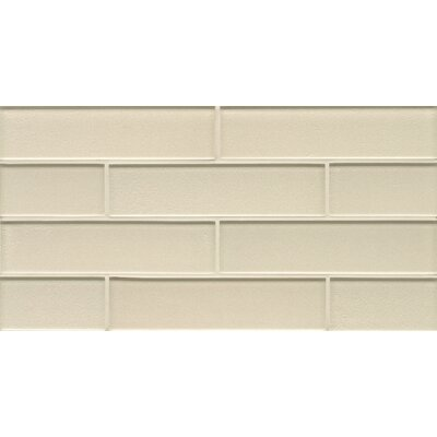Remy Glass Mosaic Gloss Mesh Mount Tile in Champagne