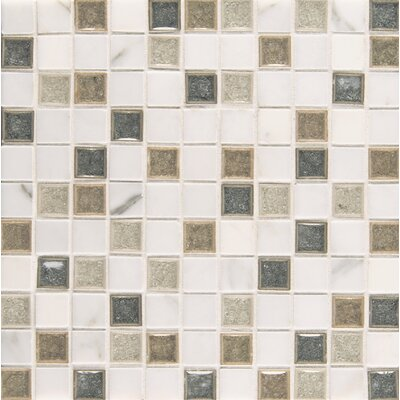 Kismet 1 x 1 Glass Mosaic Tile in Heaven