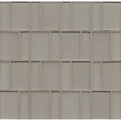 Remy Glass 12 x 12 Glass Mosaic Brick in Silver