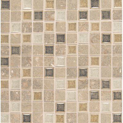 Kismet 1 x 1 Glass Mosaic Tile in Joy