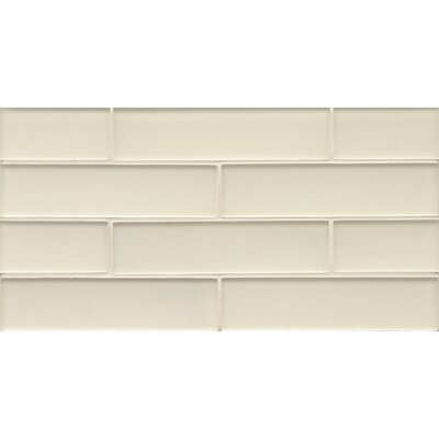 Remy Glass Mosaic Matte Mesh Mount Tile in Champagne