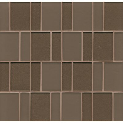 Remy Glass Mosaic Brick Tile in Brown