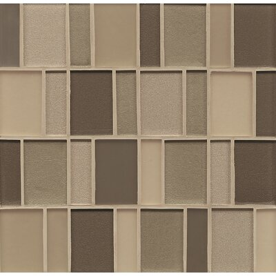 Remy Glass 12 x 12 Mosaic Brick Blends Tile in Rockford