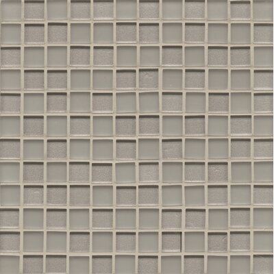 Manhattan 0.94 x 0.94 Glass Mosaic Tile in Platinum