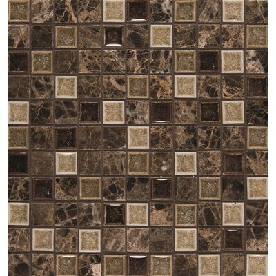 Kismet 1 x 1 Glass Mosaic Tile in Karma