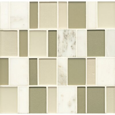 Remy Glass 12 x 12 Stone/Glass Blends Mosaic Brick in Kennewick