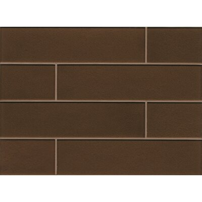 Manhattan 4 x 16 Glass Field Tile in Glossy Grand
