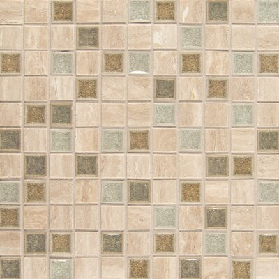 Kisment 1 x 1 Glass Mosaic Tile in Serendipity