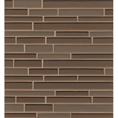 Remy Glass Mosaic Random Interlocking Tile in Brown
