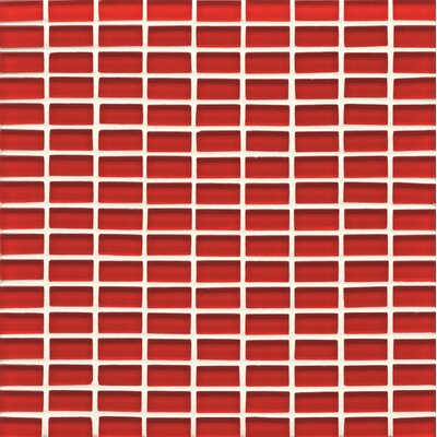 Hamptons 0.63 x 1.19 Glass Mosaic Tile in Red