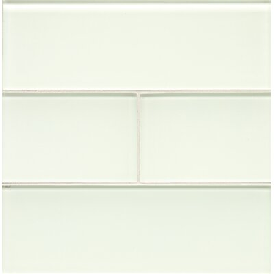 Harbor Glass 4 x 12 Glass Gloss Field Tile in Wake