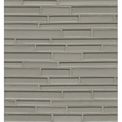 Manhattan Random Sized Glass Mosaic Tile in Platinum