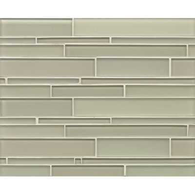 Harbor Glass Mosaic Random Interlocking Gloss/Matte Combo Tile in Adrift