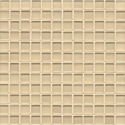 Manhattan 0.94 x 0.94 Glass Mosaic Tile in Cashmere