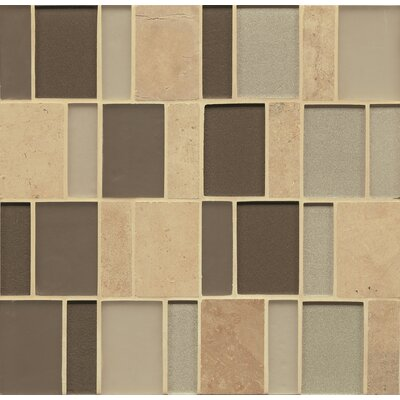 Remy Glass 12 x 12 Stone/Glass Mosaic Brick Blends in Mercer