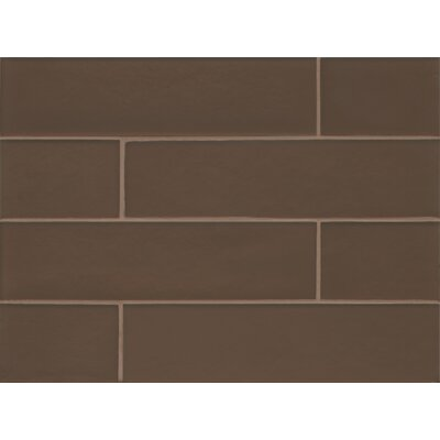 Remy Glass 4 x 16 Glass Field Tile Matte in Bronze