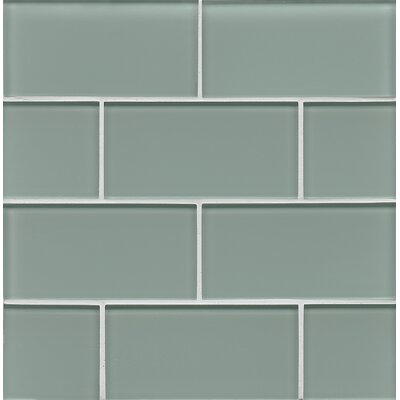 Hamptons 3 x 6 Glass Subway Tile in Sail