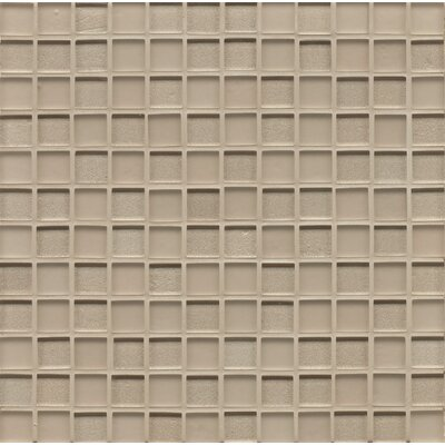 Manhattan 0.94 x 0.94 Glass Mosaic Tile in Silk