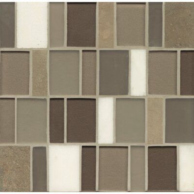 Remy Glass 12 x 12 Stone/Glass Blends Mosaic Brick in Grove