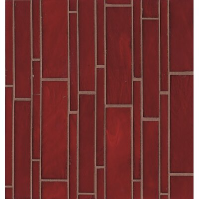 Retrospect Random Sized Glass Mosaic Tile in Rouge