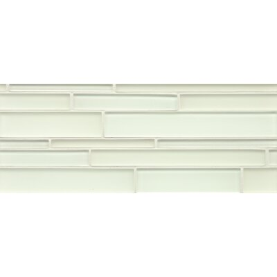 Harbor Glass 6.4 x 16 Glass Mosaic Random Interlocking Gloss/Matte Combo in Wake