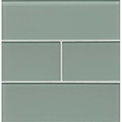 Hamptons 4 x 12 Glass Field Tile in Blue