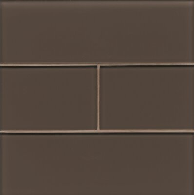 Harbor Glass 4 x 12 Glass Gloss Field Tile in Mountain