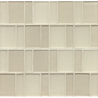 Remy Glass Mosaic Brick Tile in Champagne