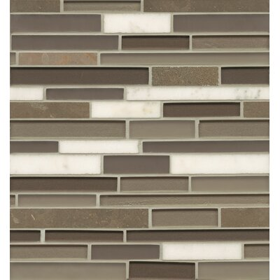 Remy Glass 12 x 13 Stone/Glass Blends Mosaic Random Interlocking in Grove