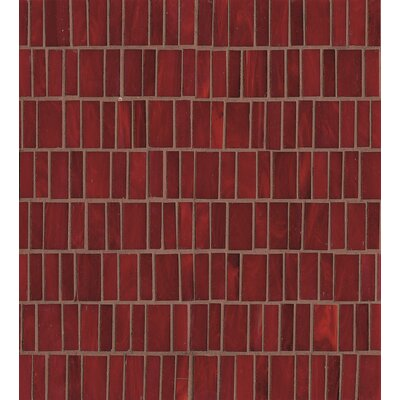 Kailua Random Sized Glass Mosaic Tile in Wave