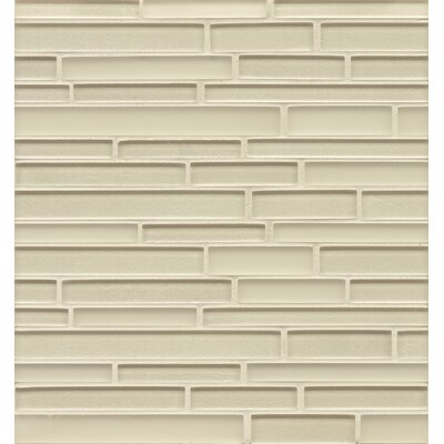 Remy Glass Mosaic Random Interlocking Tile in Champagne