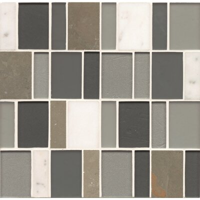 Remy Glass 12 x 12 Stone/Glass Blends Mosaic Brick in Angeles